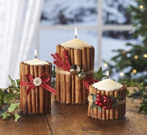 Super Lavoretti di Natale - Lavoretti candele di Natale cannella YZ35